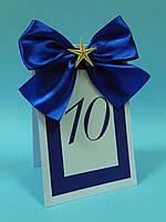 Номерки на столы синие со звездой трёхслойные, фото 1