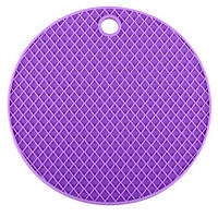 Подставка под горячее (силикон) фиолетовая Home Essentials B1160, фото 1