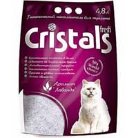 Силикагелевый наполнитель Crystals fresh с лавандой 4.8