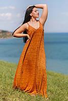 Длинное летнее платье - майка из вискозы 50-56 размеры