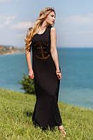 Платье в пол с разрезами сбоку Marines 2928 (ГЛ)