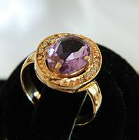 Кольцо золотое женское с аметистом 11940