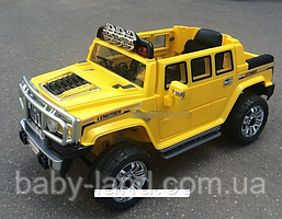 Детский электромобиль Hummer JJ 255 EBR-6, EVA колеса, жёлтый