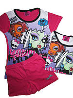 Комплект-двойка для девочки, Monster High, размер 8 лет, арт. 830-747