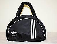 Стильная сумка долька ADIDAS LS-1030 (MB) (черный+белый), фото 1