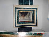 Камин мраморный Crema Marfil и Verde India