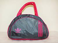 Стильная сумка долька ADIDAS LS-1030 (MB) (серый+розовый), фото 1