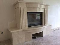 Камин мраморный Crema Marfil