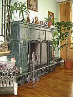 Камин мраморный Verde Guatemala