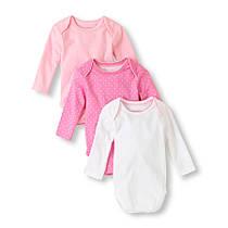 Боди для новорожденных на девочку 3-6 мес. Набор 3 шт. The Children's Place (США)