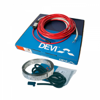 Набор «2-жильный нагревательный кабель DEVIflex 18T» длинна 74 метра + монтажные аксессуары Devi