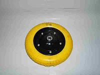 Колесо литое полиуретан 3,0х8 желтое в/d=16 НОВИНКА