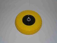 Колесо литое полиуретан 3,5х4 желтое