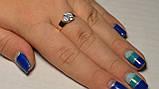 Кольцо серебряное с золотыми вставками, фото 6