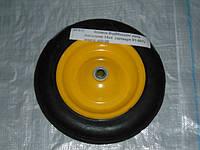 Колесо литое усиленное 14х4 желтое в/d=20