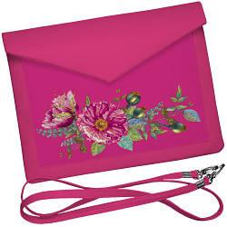 Клатч конверт - Розовое настроение