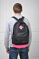 Городской рюкзак черный с розовым