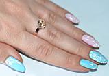 Серебряное кольцо с золотыми пластинками, фото 2