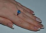 Серебряное кольцо с золотыми пластинками, фото 3