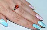 Серебряное кольцо с золотыми пластинками, фото 4