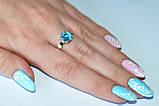 Серебряное кольцо с золотыми пластинками, фото 7