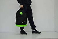 Городской рюкзак черный с салатовым