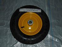 Колесо пневмо 4,0х8 желтое в/d=20
