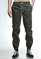 Мужские штаны карго Ястребь Olive Green Олива, зауженные с карманами (брюки-карго, Cargo)
