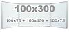 Доска магнитно-маркерная настенная с 5 поверхностями в алюминиевой раме 100х300см, износостойкая