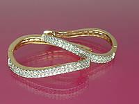"""Серьги """"Персея"""" наилучшего качества, с устойчивым  покрытием золота и мелким цирконием."""