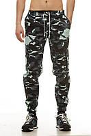 Мужские штаны карго Ястребь Blue camo Беркут, зауженные с карманами камуфляжные (брюки-карго, Cargo)