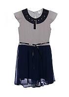 Детский нарядный школьный сарафан-платье с поясом, Польша.
