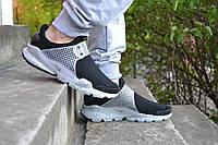 Мужские кроссовки Nike Sock Dart SP черно-белые, фото 1