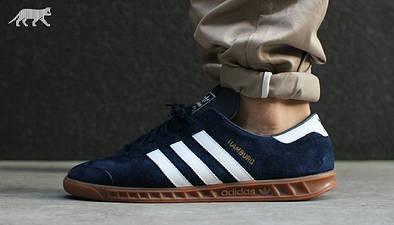 """Мужские кроссовки adidas Originals Hamburg """"Navy"""""""