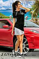 Спортивное женское платье Adidas черное с серым