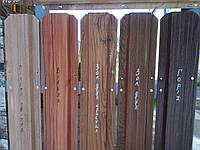Металевий євроштахетник (ширина 11.5 см) золотий дуб, вільха, сосна, венге, горіх. товщина 0.43мм