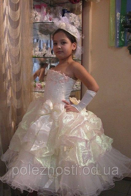 Б/У Детское нарядное платье «Мари», (рост 116-122)