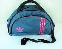Стильная сумка долька ADIDAS LS-1030 2 (MB) (серый+черный+розовый), фото 1