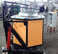 Электропечь САТ-0,3П поворотная (на 300кг ал.)       Печь плавильная САТ-0,3П на 300кг алюминияЭлектропечь САТ