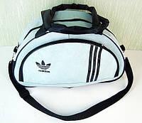 Стильная сумка долька ADIDAS LS-1030 (MB) (светло серый+черный), фото 1