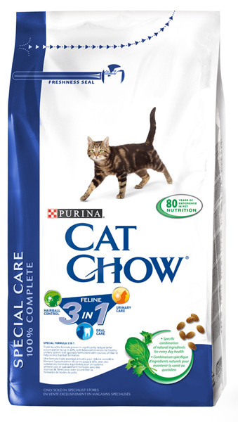 Корм для кошек c индейкой Purina Cat Chow Feline 3in1