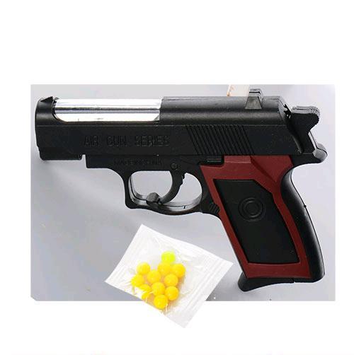 Пистолет ES2071-M809 на пульках, в кульке, 12-9-2см 72786 Ч