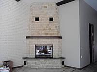 Реализованный проект углового камина с разводкой тепла по помещениям