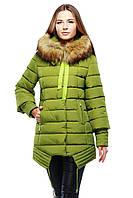 Женское зимнее пальто Терри  Нью Вери (Nui Very) в Украине по низким ценам  фисташка