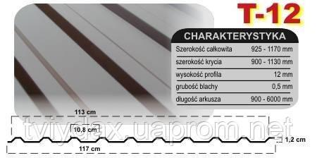 Профнастил Т12 plus (Arcelor mat) - Компанія «Твій Дах» в Львове
