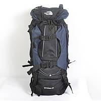 Туристический рюкзак The North Face на 100 литров (темно-синий)