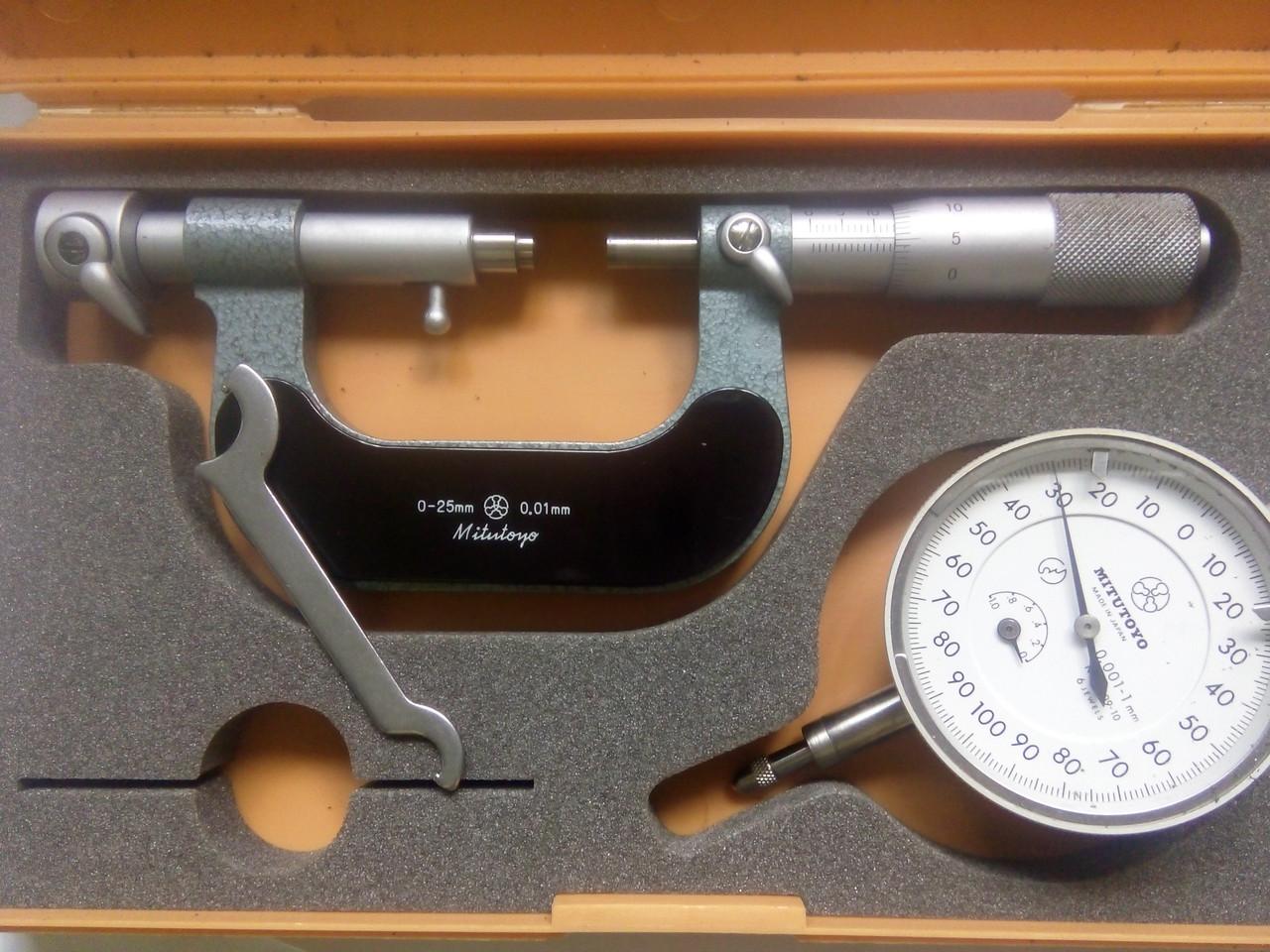 Микрометр рычажный 0-25 Mitutoyo(Япония) аналог МР-25 возможна калибровка в Укрцсм