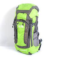 Туристический рюкзак The North Face на 60 литров (салатовый)