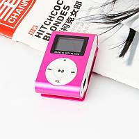 MP3-плеер с ЖК-экраном + usb cabel розовый