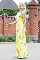 Нежное Элегантное Платье Сарафан в Пол Желтое р. S-3XL